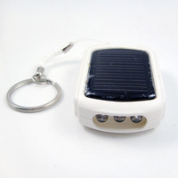 solar USB keychain charger mini battery charger for mobile