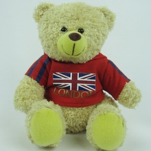 22cm Sitting plush classic teddy bear with clothing