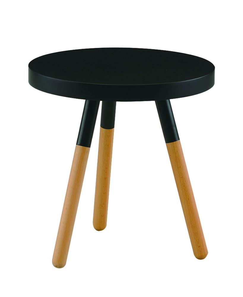Zwarte hoogglans mdf woonkamer kleine ronde tafel kleur mdf ...