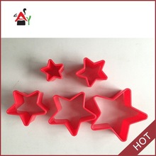 2015 hot for kitchen Pentagram Mini Plastic Cookie Cutters
