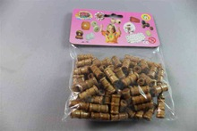 Fashion colored wood beads christmas towel crafts popular design