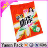Yason high temperature cooking transparent clear self adhesive plastic bopp socks/ clear pe gloves bags foil heat contraction