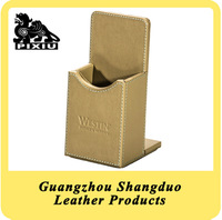 Alibaba Website PU Leather Cover Wooden Remote Control Case