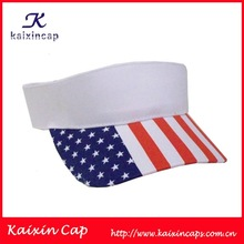 custom high quality sun visor cap/hat wholesale made in China with usa flag