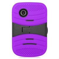 2015 New Model Case Stand Robot Cover Case for LG 306G Soft Silicone Hard PC Hybrid Case