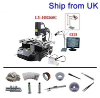 Free Shipping From UK, No Tax! LY HR560C BGA rework station with LY Cobra CCD and 8'' monitor, With 10 in 1 BGA accessories