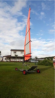 Stainless Steel Frame Power by Wind Buggy Go Kart for Sale