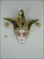 Decorative Hand Painted Ceramic Masquerade Face Mask Wall Decor