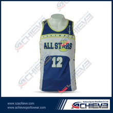 sport wear using your name and loved number Strong Scalability Basketball Garment For Men