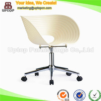 (SP-UC124) Leisure office furniture sliding plastic chair with caster