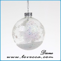 half mirror ball *Christmas glass ball*plastic plain christmas balls