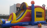 promotional inflatable bounce house for kids,inflatable castle slide combo