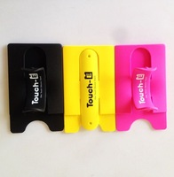3M sticker Silicone Cellphone Stand Card Holder for Promotion