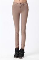 Alibaba wholesale on line kakhi elastic cotton ladies pants/slim fit pants