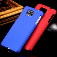 Nail Polish Type Hard Plastic Frosted PC Oil Coated Case Cover For Samsung Galaxy Alpha G850