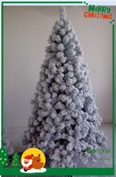 2015 new design hot sale white outdoor lighted christmas trees