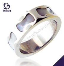 High end footprint concave design stainless steel men ring sweet