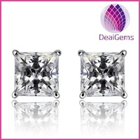 Fashion 925 sterling silver crystal stud earring