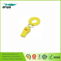 High Quality Cheap Plastic Whistle plastic survival whistle with rope