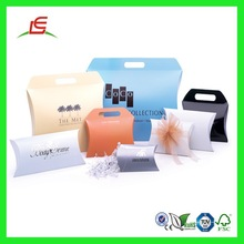Q960 Mini Pillow Box Packaging With Handle, Pillow Shaped Gift Box Wholesale