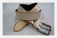 2015 top grade jean leather belt from guangzhou factory