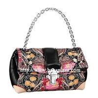 Chinese flowers print style 2 folds handbags, a charming handbags