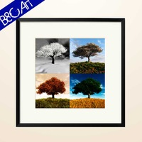 Hot four picture paintings of modern trees