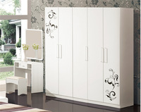 Jisheng laminated plywood wardrobe PVC Surface Treatment designer almirah wardrobe