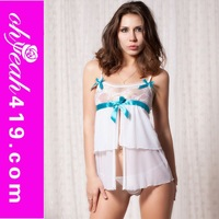 Wholesale white girl sexy nightwear lingeries Korean girls sexy lingerie
