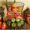 3 layer metal basket metal fruit basket wholesale in grayish color for hotel restaurant use durable fashion new design