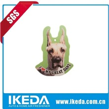Dog shape paper air freshner for car from china
