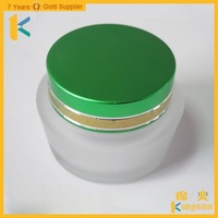 2oz recycled wide mouth glass storage jar for face cream
