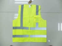high reflective safety jacket with phone pocket