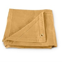 Brown 700gram 100% cotton finished tarps