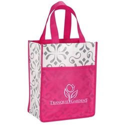 Popular design non woven conference tote bag with gusseted pocket