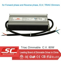 power adapter for LED light 12V 80W triac dimmable constant voltage SAA CE TUV ETL IP66