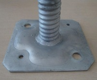 scaffolding forkhead jack /Adjustable Support Scaffolding Galvanized Screw Base Jack For Sale