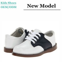 J-C0001 Fashion Style Genuine Leather Black and White Branded Used for Formal Occasion Boy little Gentleman Casual Shoes