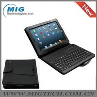 bluetooth keyboard for Ipad 2 3 4 Synthetic leather case with bluetooth keyboard, black