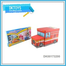 Fire Truck Shape Storage Seat Stool Kids Foldable Storage Box