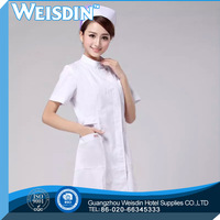 wholesale CVC use white color nurse chinese collar scrub suit