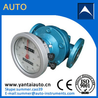 Oval gear flow meter for high viscosity fluid with high quality