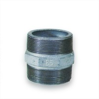 Galvanized malleable iron pipe fitting nipple