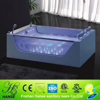 HS-B227 air jet tub/ tempered glass bathtub/ acrylic freestanding bathtub