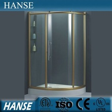 HS-SR829prefab luxury cheap sliding curved glass quadrant acrylic shower enclosures