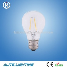 clearly glass factory supply A60 led bulb filament 6w e27