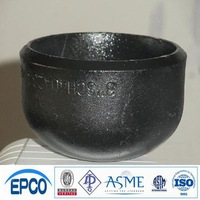 carbon steel seamless pipe fittings caps sch40 dimensions