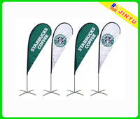 starbucks coffee advertising flag,outdoor activity advertising street flag