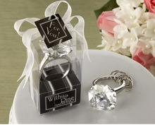 Diamond Engagement Ring Keychain Key Chain Bridal Shower Favors