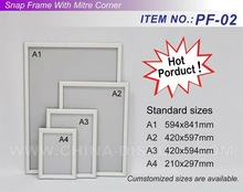 Wall Mounted Photo Poster Frame, Picture Frames for Shops